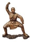 Shaolin warriors monk bronze statue Royalty Free Stock Photo