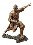 Shaolin warriors monk bronze statue Stock Image