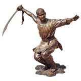Shaolin warriors monk bronze statue Stock Images