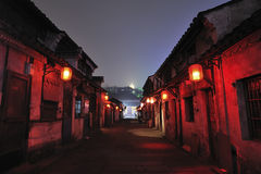 Shaoxing sage hometown Streets Night Stock Photos