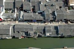 Shaoxing - Watertown-Ansicht von der Augenansicht des Vogels Stockbild