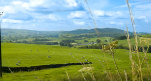Shap Valley, Cumbria. Wide Angle shot of the valley overlooking the Town of Shap in the Lake District, Cumbria Stock Photos