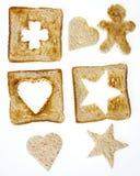 Shapar från bröd Arkivbild