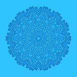 Blue background with abstract shape. Shape with abstract pattern on blue background Stock Photography