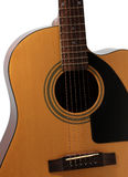 Shape of acoustic guitar. Line and shape of Acoustic guitar Stock Images