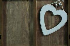 Shape av den vita hjärtan Royaltyfri Bild