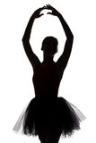Shape of ballerina with hands up royalty free stock image