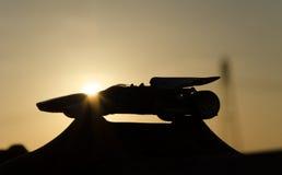 Shape of beautiful racing car Royalty Free Stock Photos