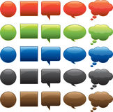Shape Buttons. Comics Word, Icon, Button, Vector, Illustrations Royalty Free Stock Images