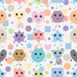 Shape cartoon simply symmetry seamless pattern Stock Photo