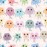 Shape cartoon simply white seamless pattern. This illustration is drawing simply shape cartoon with white decoration in seamless pattern Stock Photography