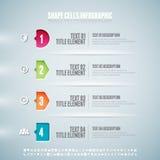 Shape celler Infographic Fotografering för Bildbyråer