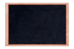 Shape chalkboard wood frame with black surface. royalty free stock images