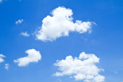 The shape of clear blue sky. The shape of clouds and clear blue sky Stock Photos
