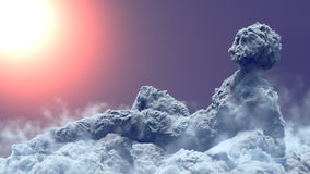 Shape of clouds like a woman figure 3d renderin Royalty Free Stock Images