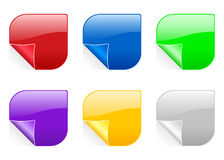 Shape color sticker 2 Stock Photography