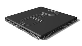 Shape cpu illustration Royalty Free Stock Image