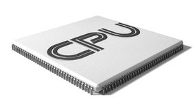 Shape cpu illustration Royalty Free Stock Photography