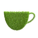 The shape of the cups of green leaves Royalty Free Stock Photo