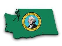 Washington State Icon Map Shape Stock Images