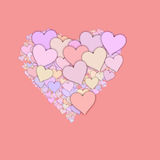 Shape from different hearts of Valentine's day. Love symbol stock illustration