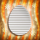 Shape of Easter egg on abstract background Royalty Free Stock Photography