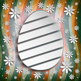 Shape of Easter egg on abstract background Stock Photos