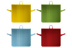Shape empty pan in cut on clean background. Royalty Free Stock Images