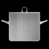 Shape empty pan in cut on clean background. Stock Images