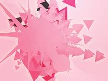 Shape explosion Stock Image