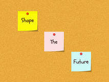 Shape the Future Bulletin Board Royalty Free Stock Photos