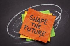 Shape the future note Stock Photo