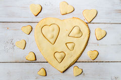 Shape of heart baked in a sweet cookie no. 3 Stock Photography