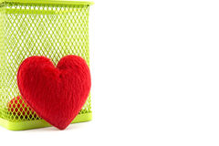 Shape heart concept lack of Independence. On white background Stock Photography