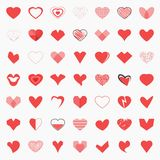 Shape Heart Icon Set - Vector. Shape Heart Icon Set for decoration artwork - Vector Stock Photos