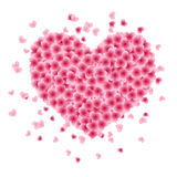 Shape of heart made of leaves Royalty Free Stock Photography