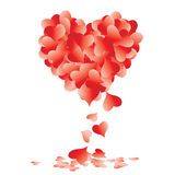 Shape of heart made of leaves Stock Photo