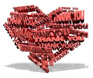 Thank you from heart Stock Photos