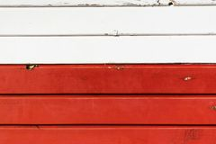 Red and white wooden background, close up royalty free stock photo