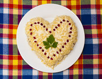 Shape of heart of salad Royalty Free Stock Photo