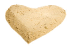 Shape of heart into a sand Stock Image