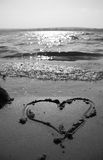 Shape of heart and water Stock Image