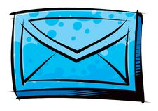 Traditional letter in an envelope Stock Photo