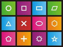 Shape - metro style icon sets Royalty Free Stock Photo