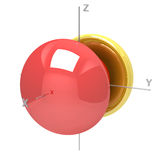 Shape of the 6Px atomic orbital on white background. Available o Royalty Free Stock Photo