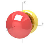 Shape of the 4Px atomic orbital on white background. Available o Stock Photos