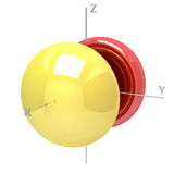 Shape of the 5Px atomic orbital on white background. Available o. Shape of the 5Px atomic orbital on a white background. Available other orbitals Royalty Free Stock Image