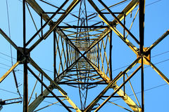 Shape of pylon. Stock Photo