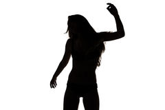 Shape of sexy dancing girl Stock Photo