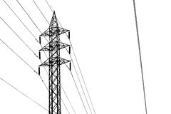 Shape of Silhouette Electricity Post Royalty Free Stock Photography